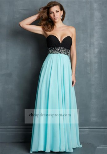Blue and black prom dress - Dress on sale
